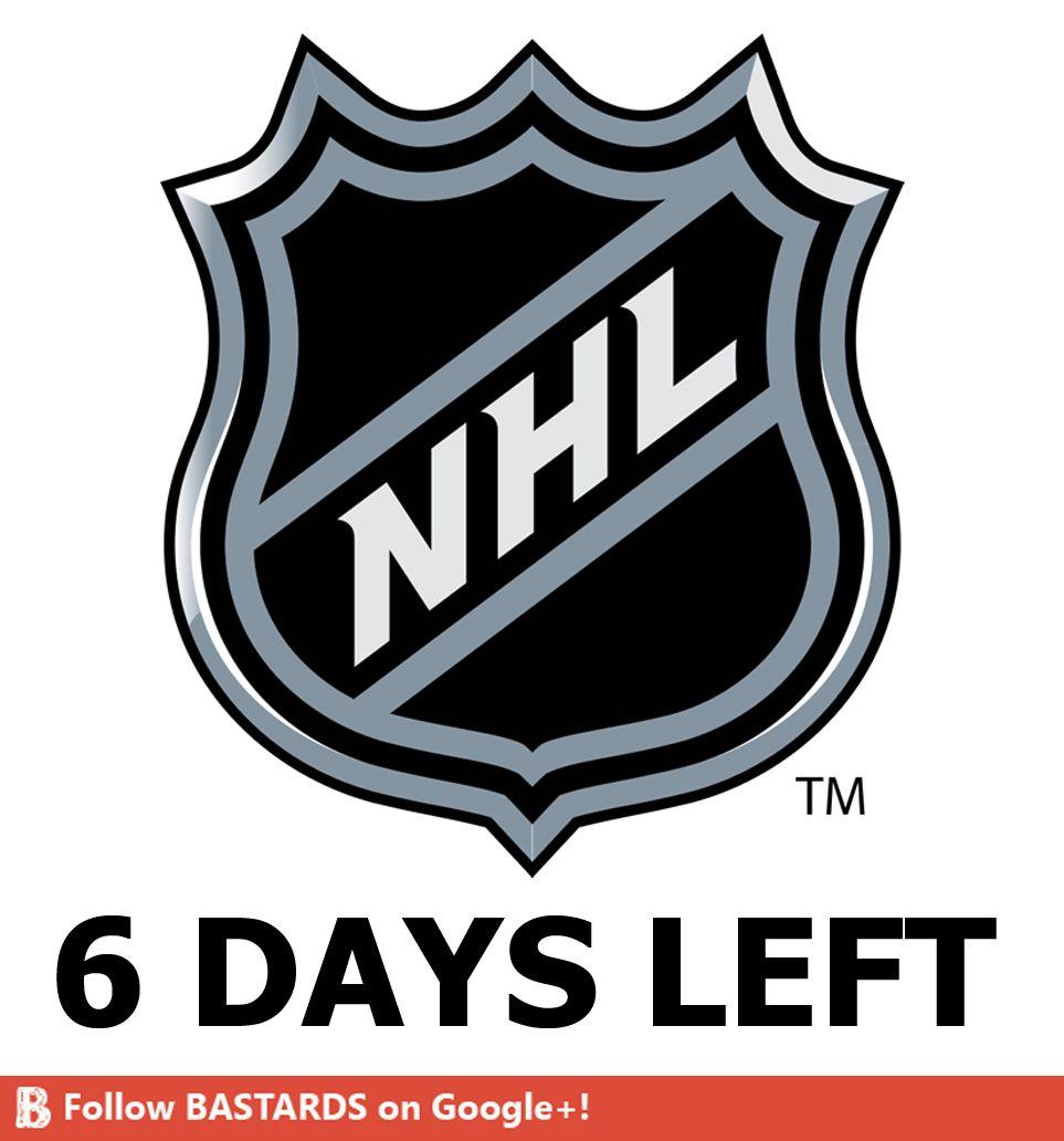 6 days left to start the NHL!
