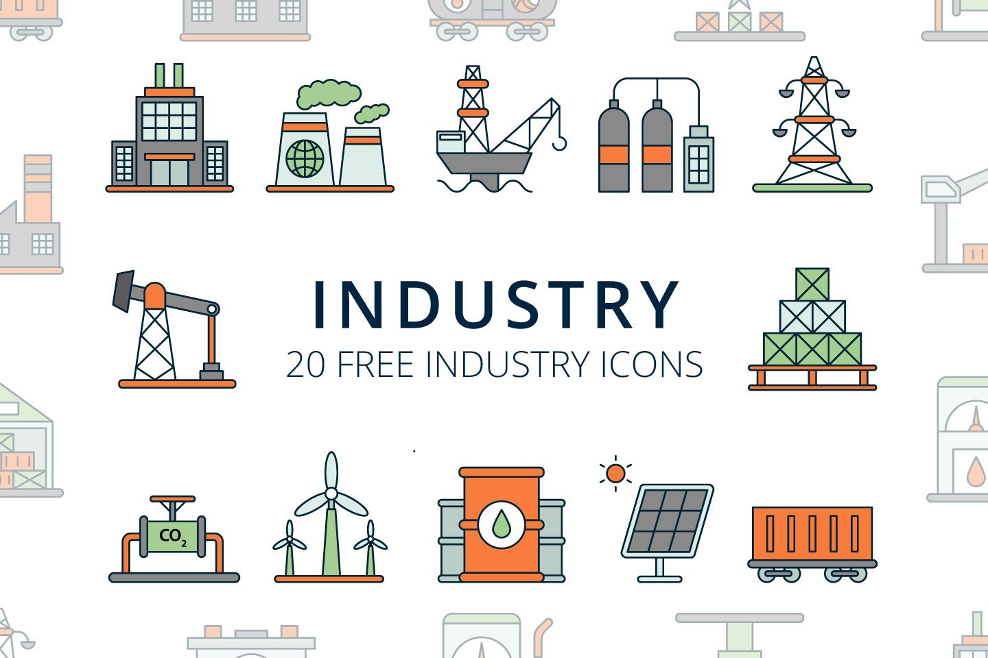 Free Industry Vector Icons Ai, SVG and PNG Icons