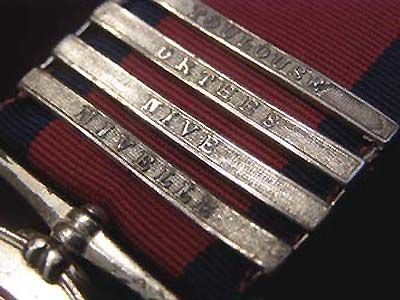 Military General Service Medal 4 clasps. Toulouse. Orthes. Nive. Nivelle. Private Alexander Munro B:1794-1865