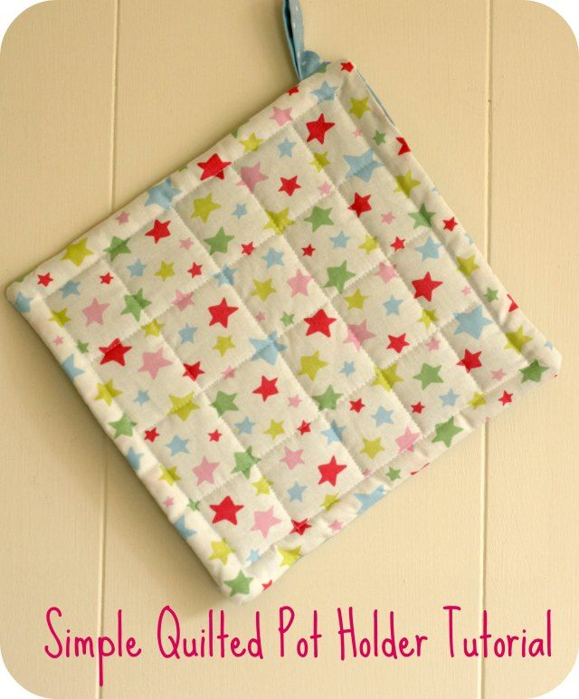 Simple Quilted Pot Holder Tutorial Potholders Sewing Projects
