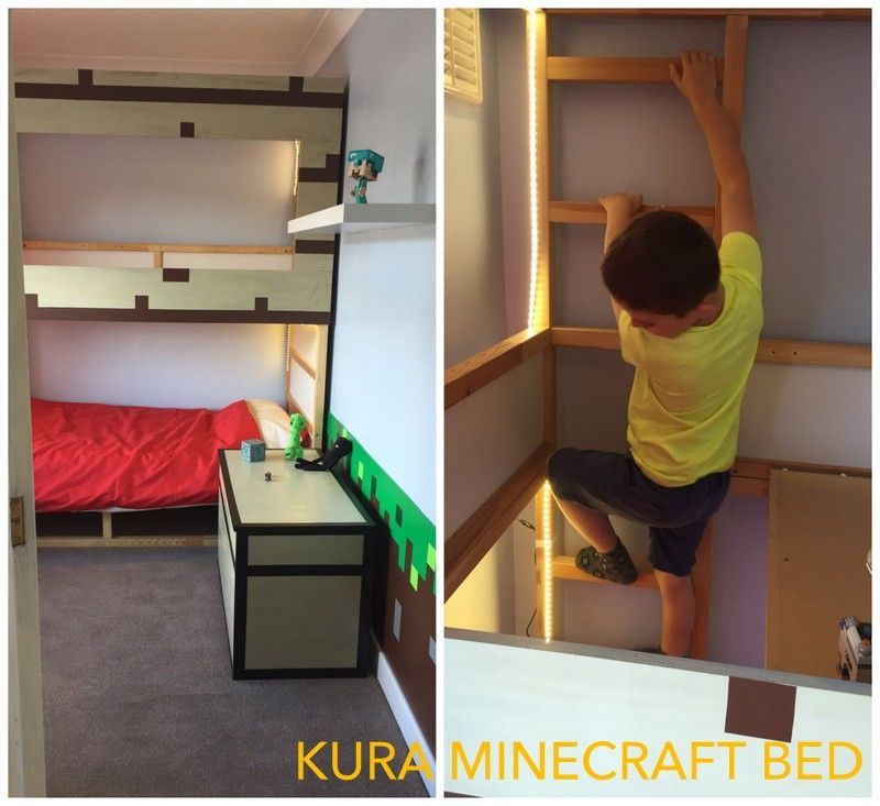 Kids Bedroom On Minecraft ikea kura minecraft decor bed hack | ikea hackers | ikea hacks