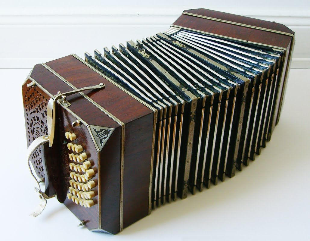 Look! A bandoneón! Made by its German inventor, Heinrich Band, the ...