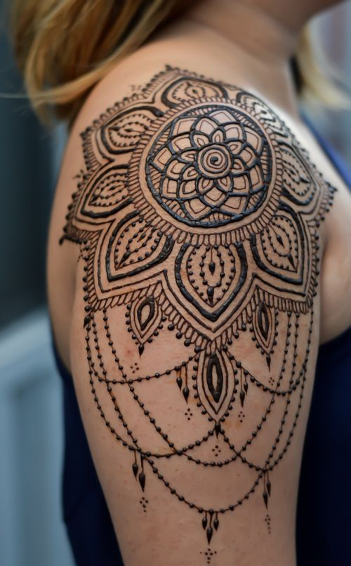 Henna Shoulder Tattoo Designs: Pin On Tattoo