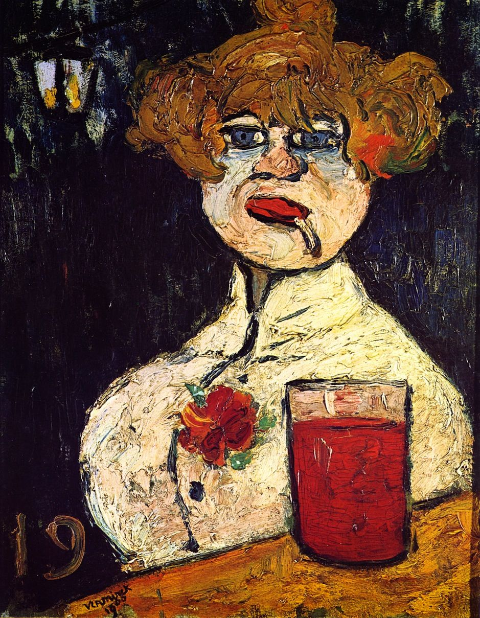 Maurice De Vlaminck French Fauvist Painter 1876 1958 At The Bar