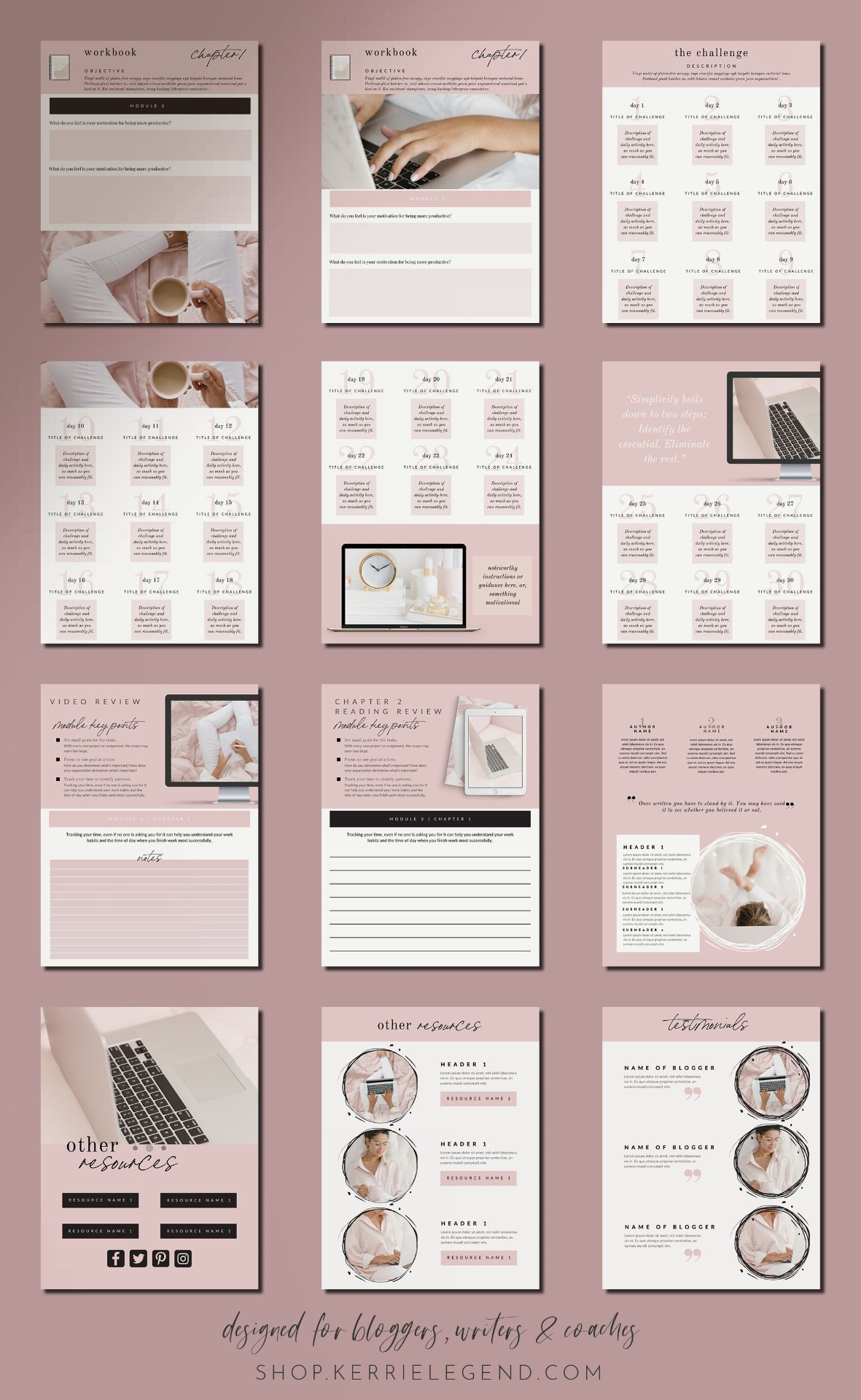 80 Page Ebook Amp Workbook Canva Template For Bloggers