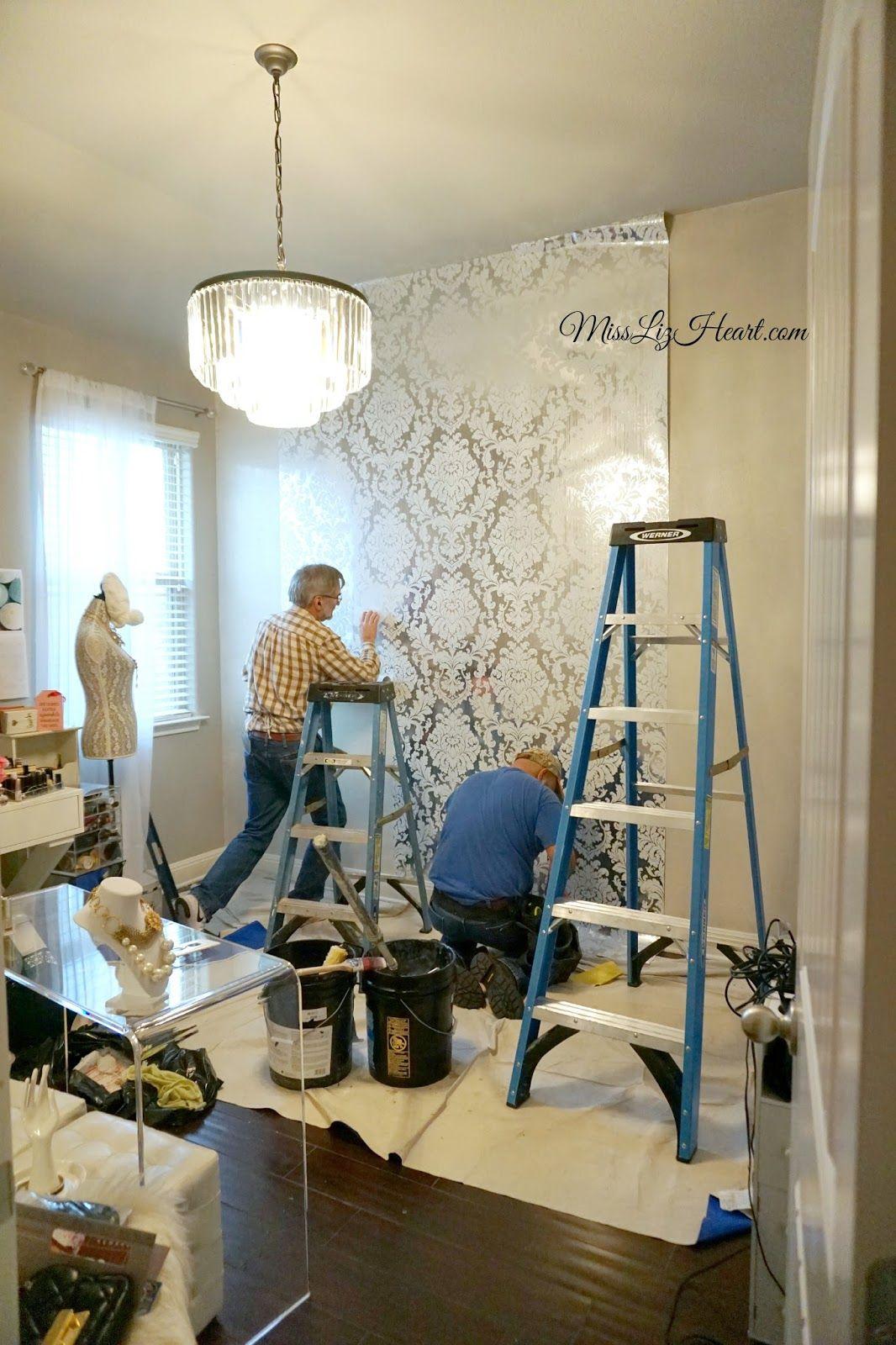 New Wallpaper! Makeup Room Update | Room update, Makeup room, Glam ...