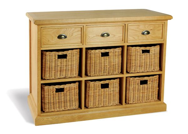 console table with storage baskets u003e hall and console tables u003esavoy