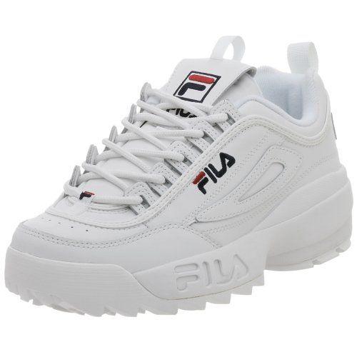 Fila Men's Disruptor II Sneaker,WhitePeacoatVinred,10.5 M