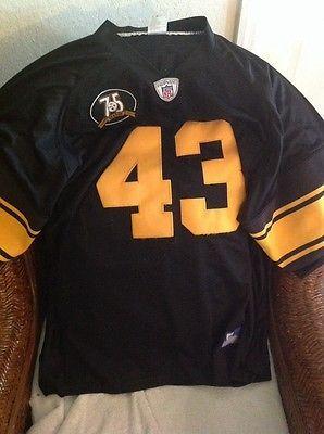 ... Troy Polamalu 43 Pittsburgh Steelers Reebok football Sewn Jersey Size  54 Mens ... 32cc1ee9c