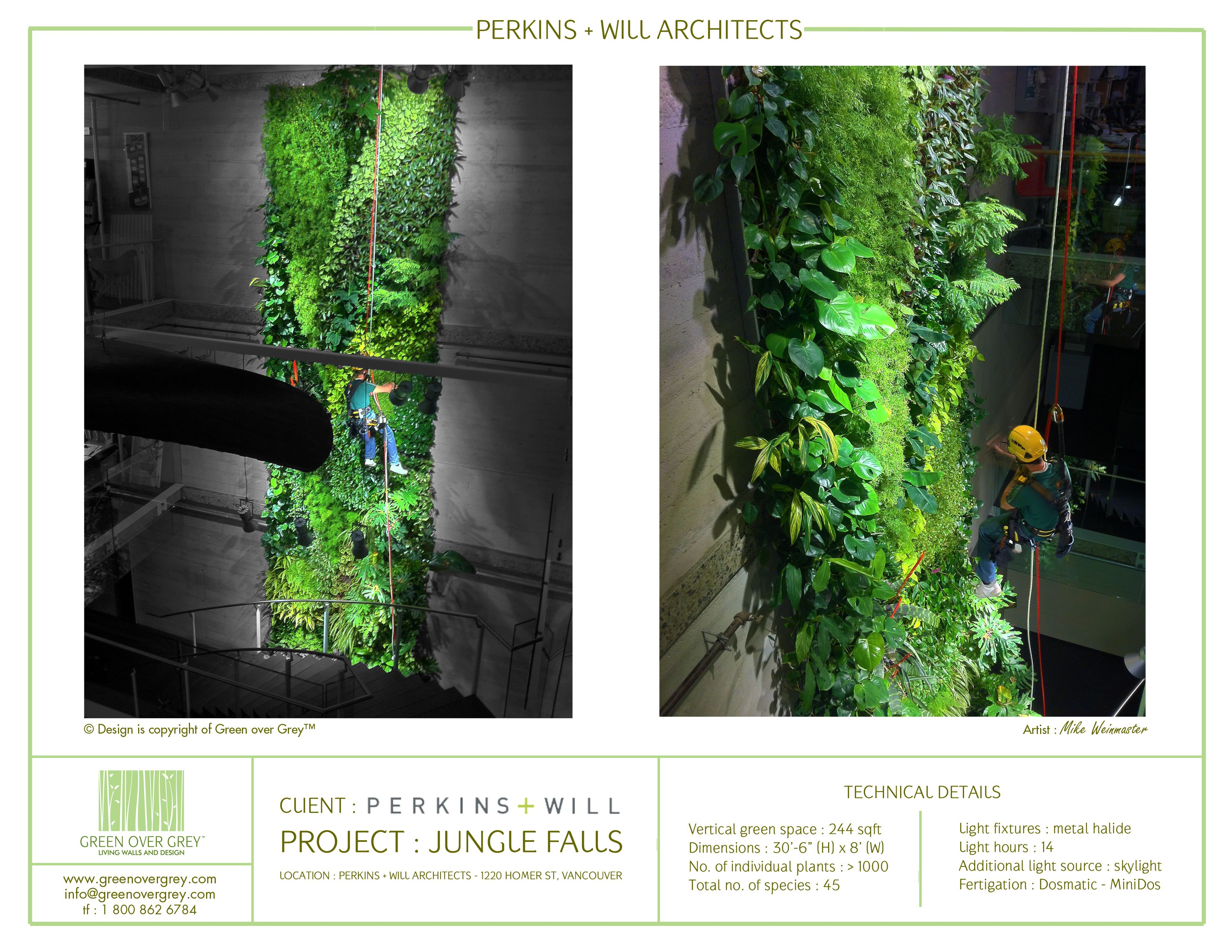 Green Wall Installation By Green Over Grey. Canadian Headquarters Of  Perkins And Will Architects,
