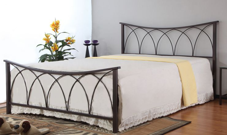 Monmouth White Double Bed Metal Bed Frame 4ft6 Fantastic Value Fast Delivery Bed Frame And Headboard Luxurious Bedrooms Metal Bed Frame