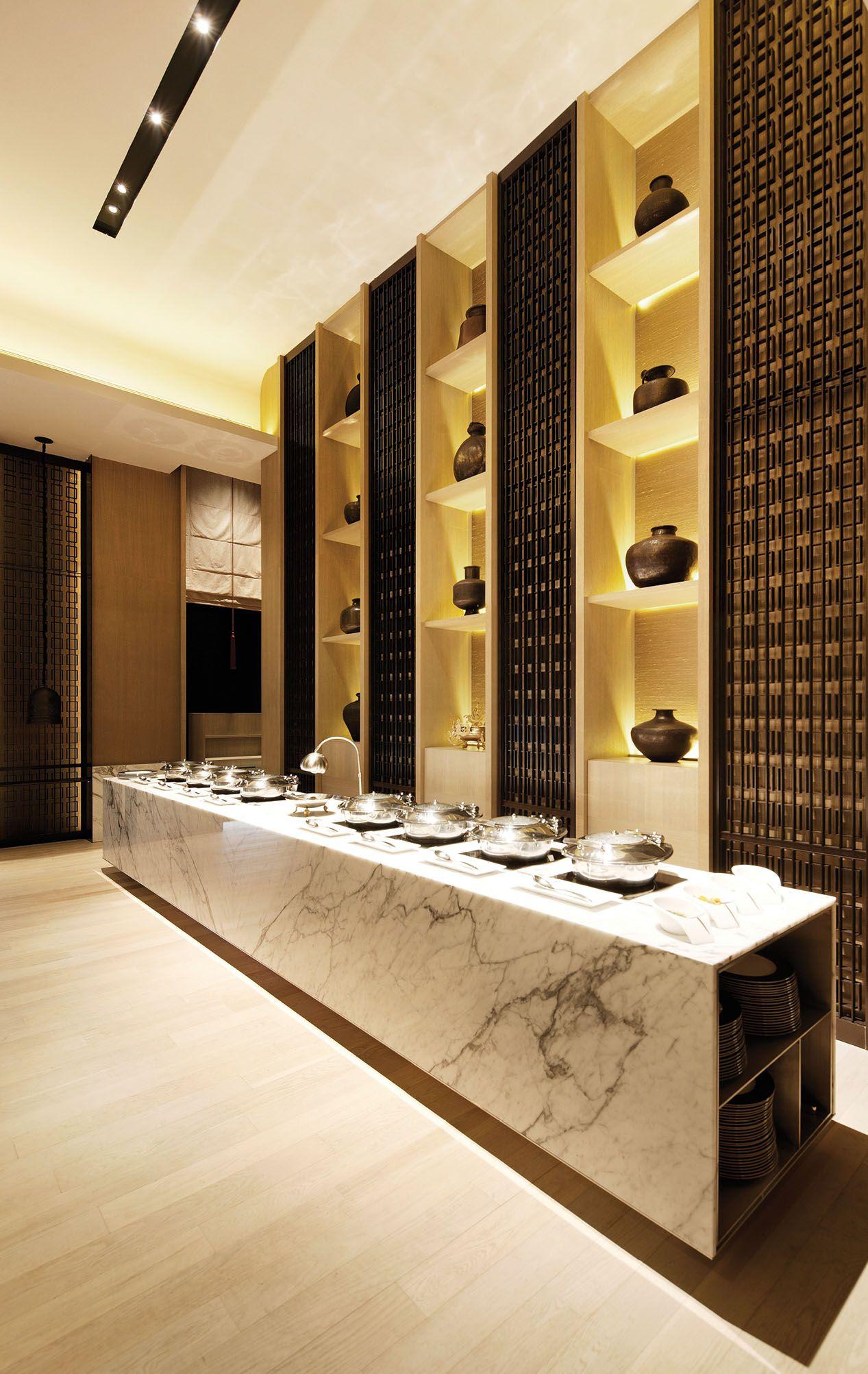 scda rang mahal restaurant ii, singapore- buffet area | interior