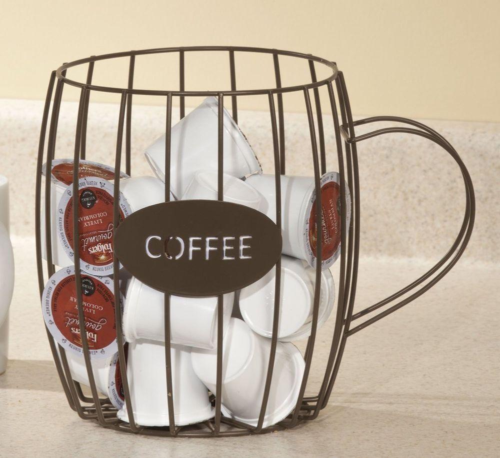 Coffee pod holder k cup keurig capsule stand countertop