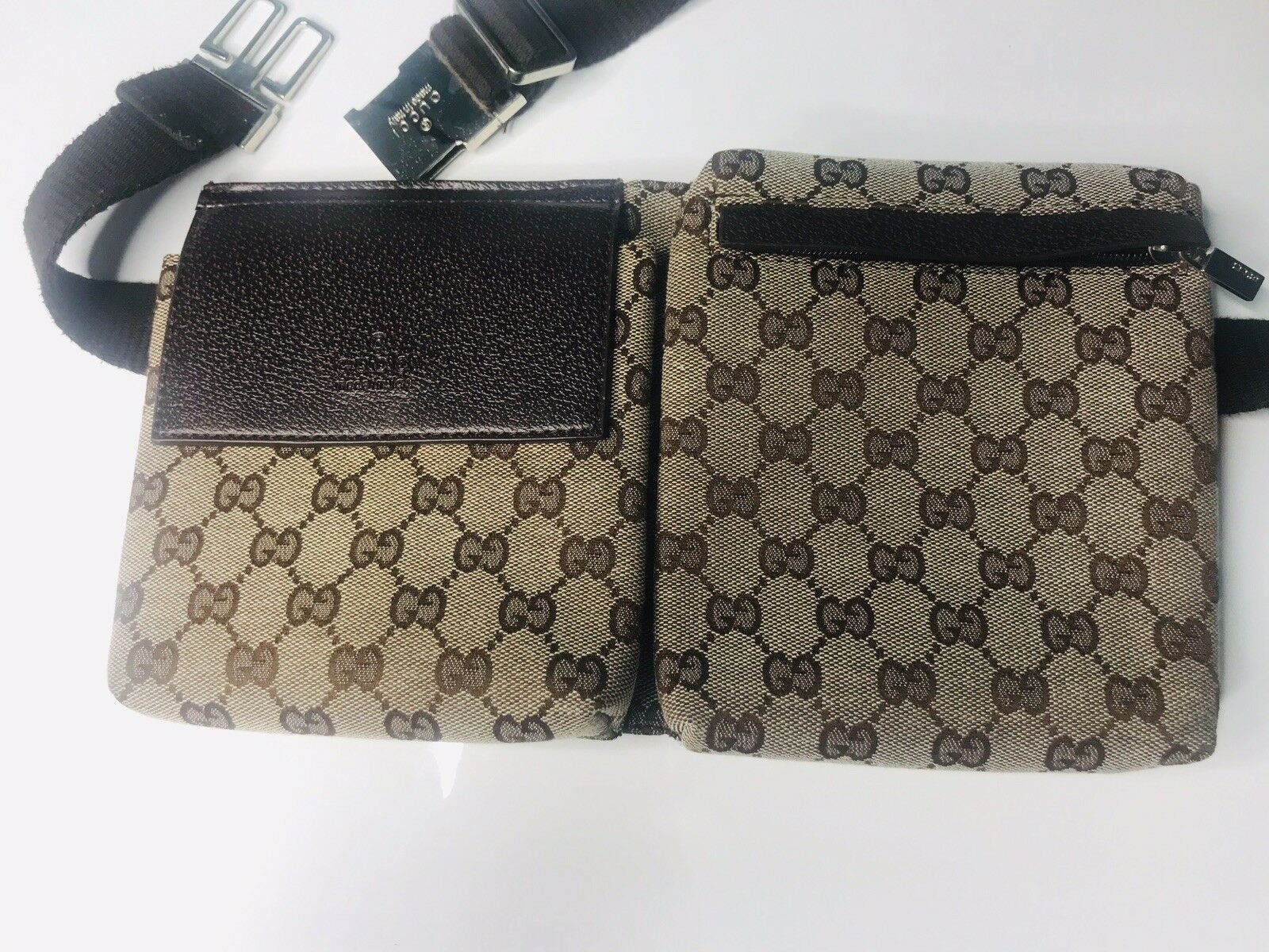 d0bd6820b95d #FORSALE Gucci Waist Pouch Bumbag Belt Bag Fanny Pack Brown Monogram Canvas  - $182
