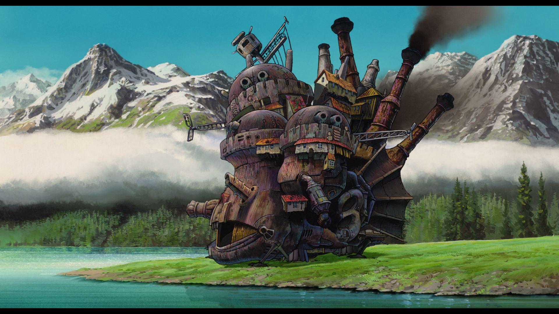 Background Art C Studio Ghibli Le Chateau Ambulant Hauru No Ugoku Shiro Hayao Miyazaki Howls Moving Castle Howls Moving Castle Wallpaper Studio Ghibli