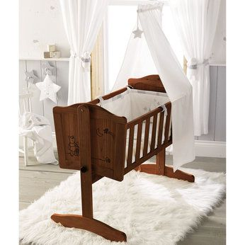 119 99 Winnie The Pooh Swinging Crib In Dark Finish Crib Swing Dream Nurseries Baby Bed