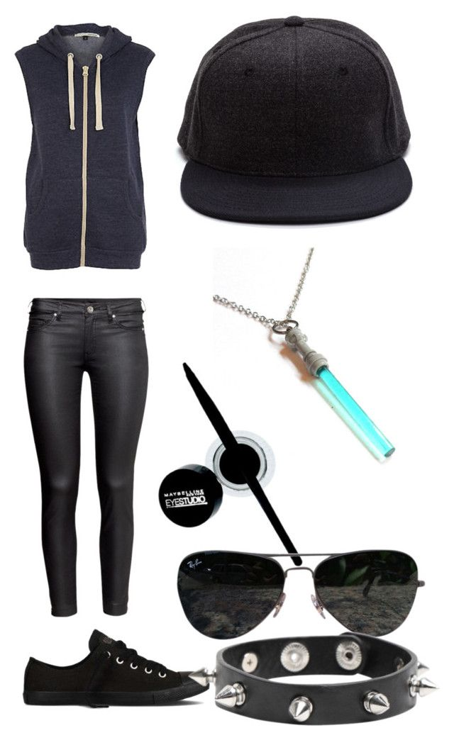 """""""If I could dance."""" by freedom-camile ❤ liked on Polyvore featuring River Island, Converse, H&M, Maybelline and Ray-Ban"""