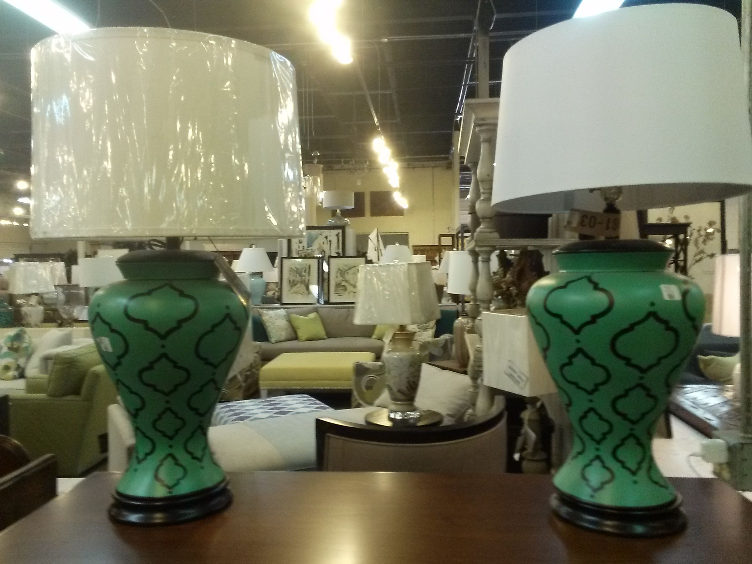 Gorgeous simple hand painted table lamps at green front interiors gorgeous simple hand painted table lamps at green front interiors on yonkers rd my new geotapseo Gallery