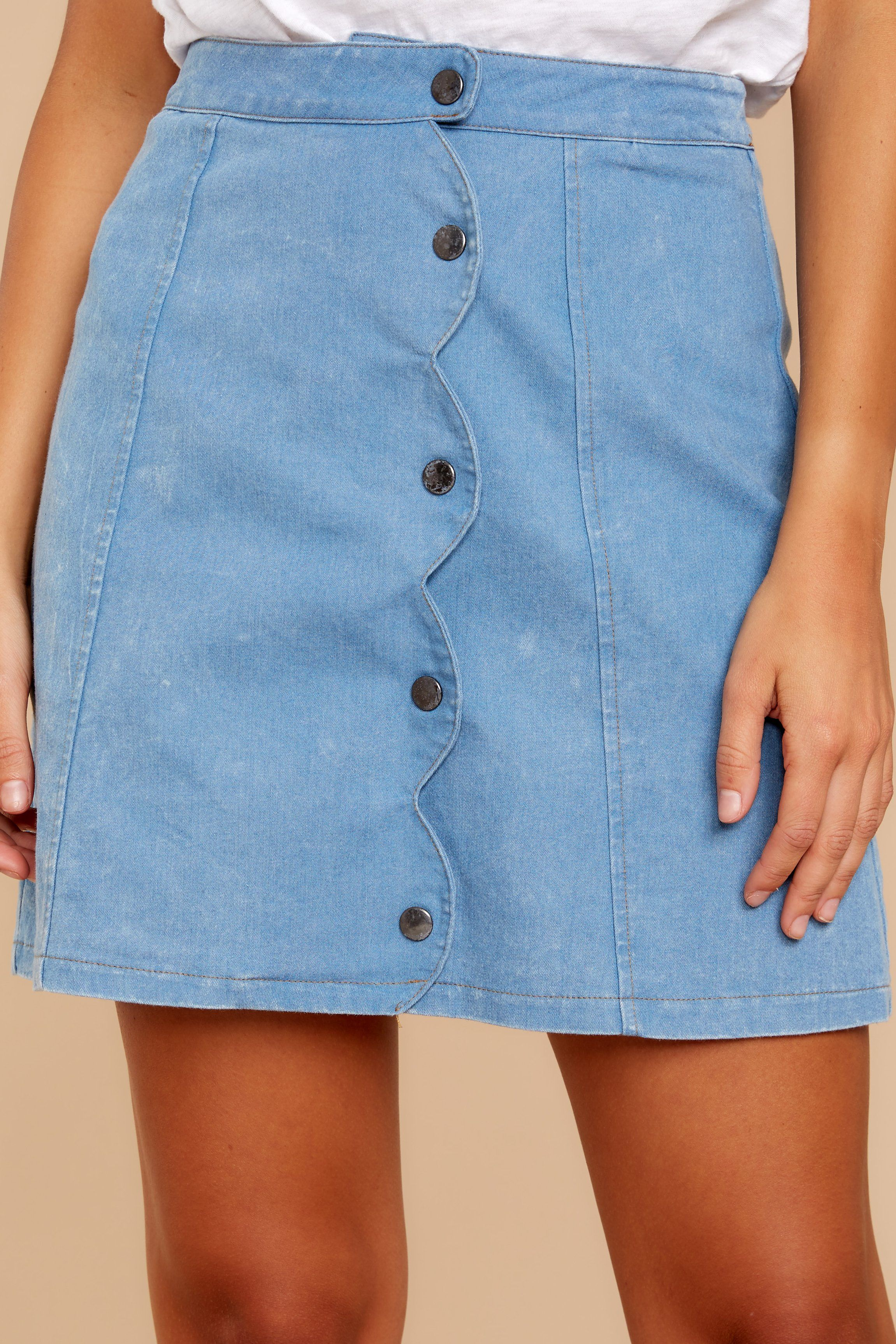 bb0ddda9694b Chic Medium Wash Denim Skirt - Trendy Skirt - Skirt - $42.00 – Red Dress  Boutique