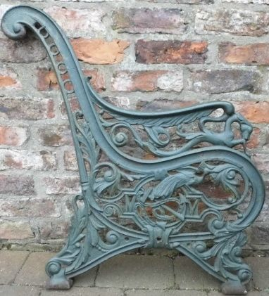 Antique Cast Iron Bench Ends With Images Iron Bench Cast