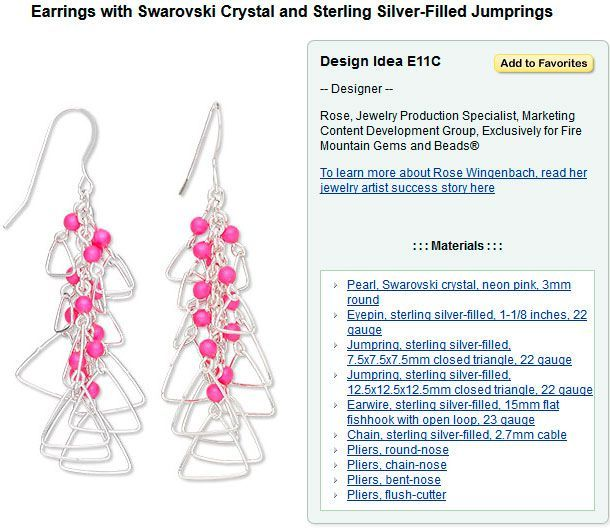 Jewelry Making Article - Jewelry Design Inventory--Part of Your