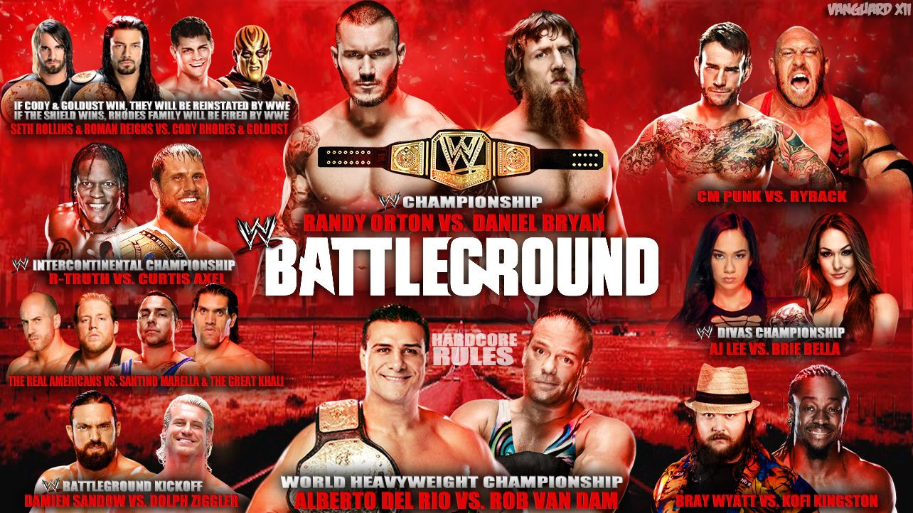 Wwe tables ladders and chairs 2013 poster - Wwe Battleground 2013 Card