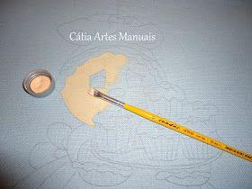 Catia Artes Manuais: PASSO A PASSO PINTURA EM TECIDO COLORIDO