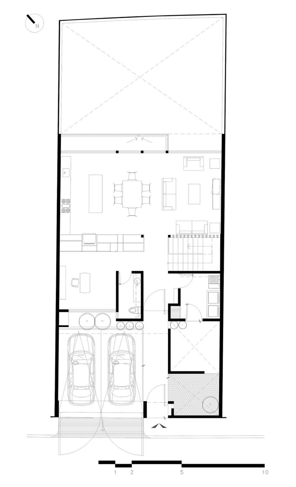 Imagen 14 De 17 De La Galeria De Casa Milan Bca Taller De Diseno Planta Baja Casas De Dos Plantas Casas De Dos Pisos Planos Arquitectonicos De Casas