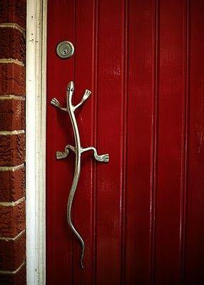 come in | Door handles, Lizards and Doors