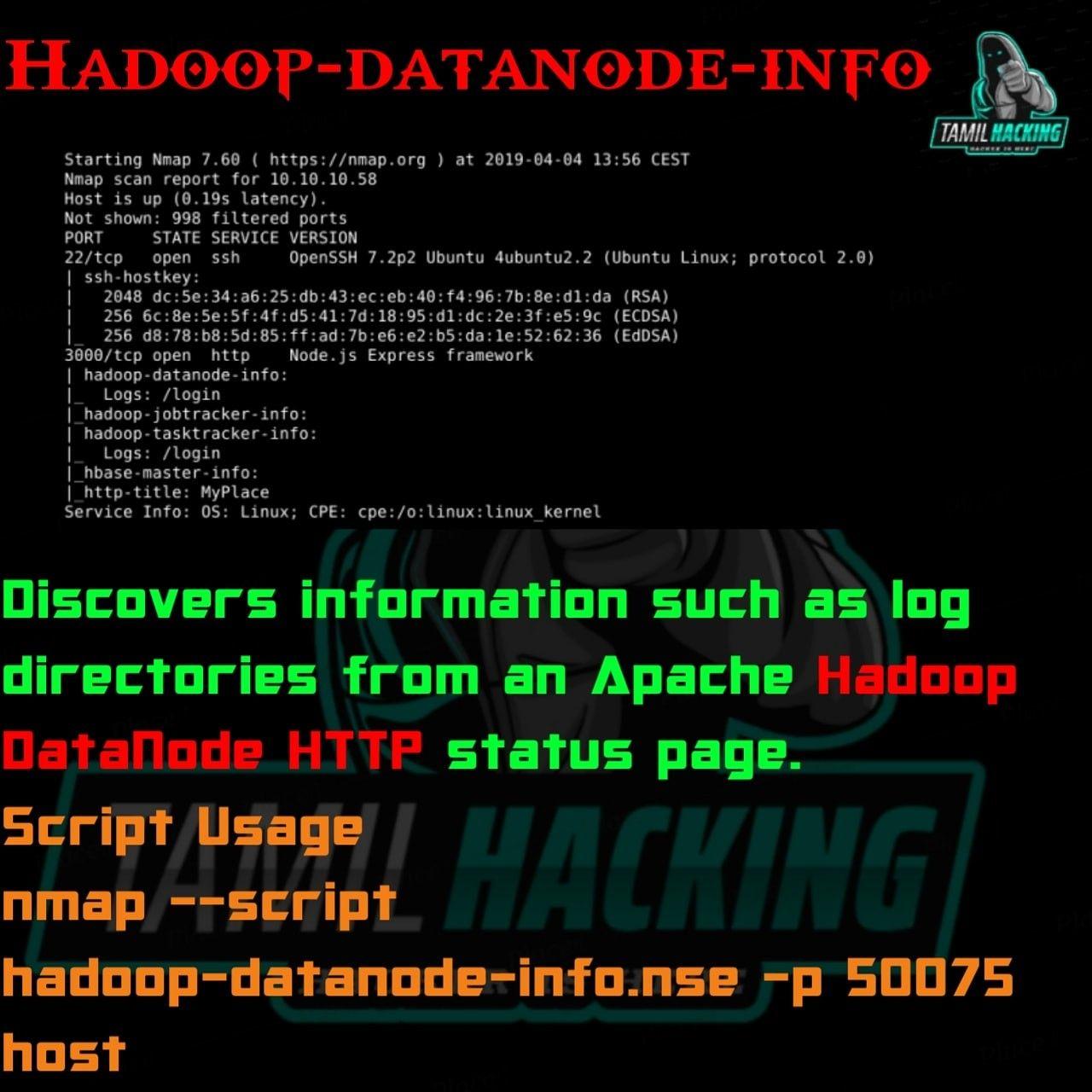Hadoopdatanodeinfo root apps linux hackathon