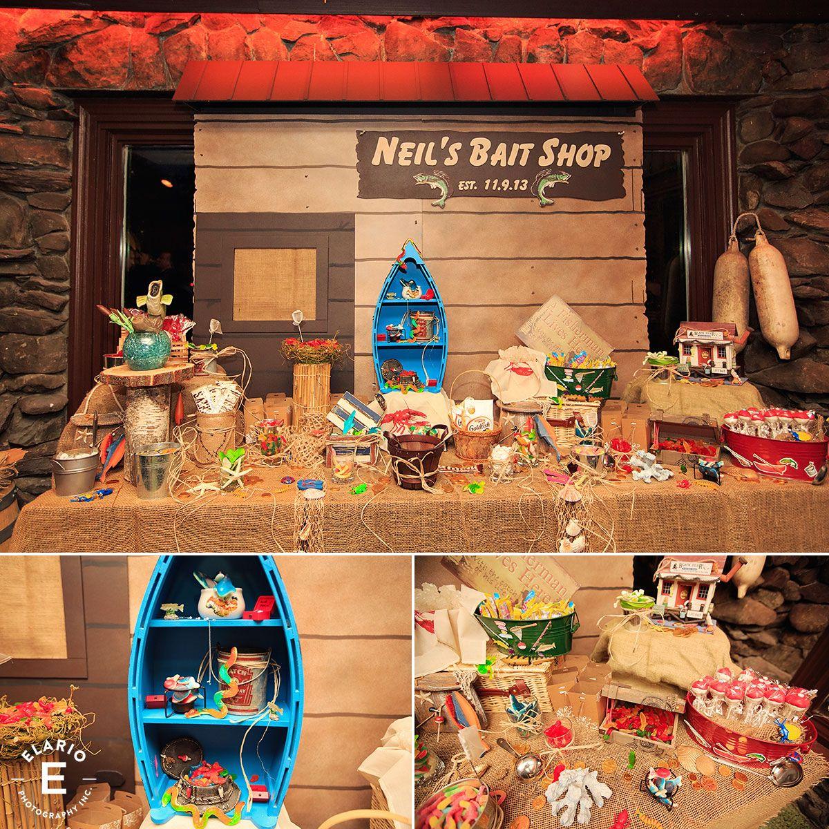 Fishing Wedding Ideas: Wedding Candy Station, Fishing Theme, Groom Candy Station