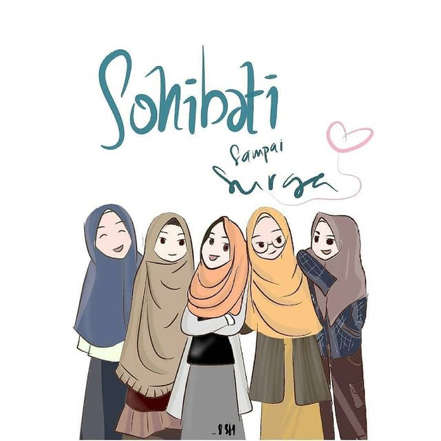 Wallpaper Kartun Muslimah Hijab Sahabat Sehati Cartoon Hijab Friend Cartoon Islamic Cartoon Anime Muslim