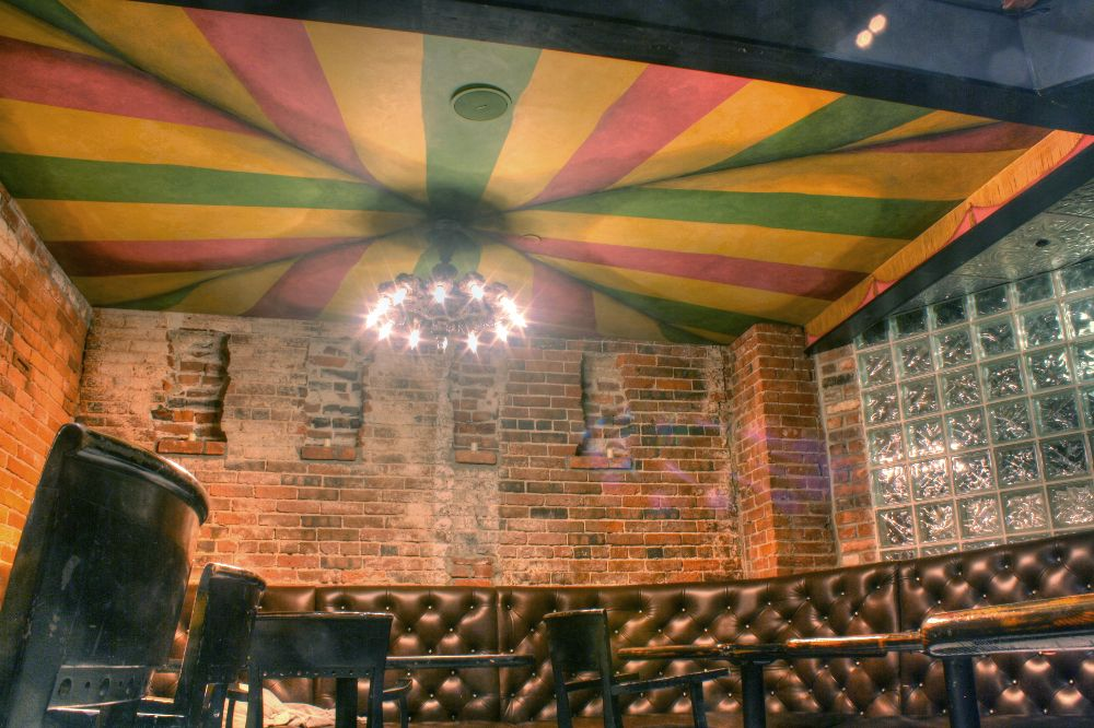 Trompe L Oeil Painting Of Tent Ceiling Is Painted In Dining Area