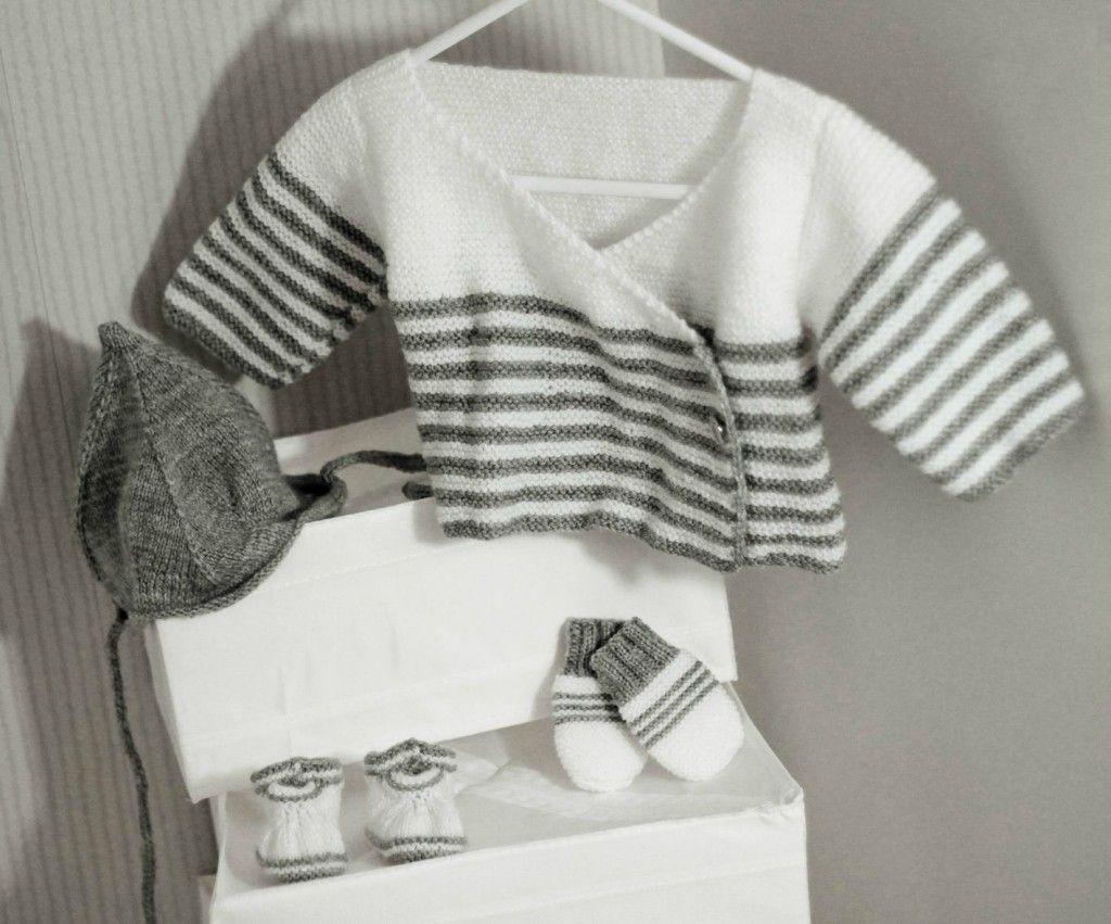 Photo tricot modele gratuit tricot layette gilet 18 point de tricot pinterest modele - Modele plaid tricot gratuit ...