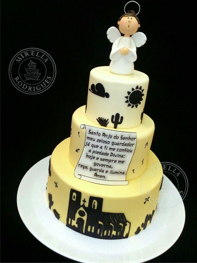 Bolo batizado inspirado em Xilogravura. | Mirella Rodrigues Cake ...