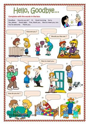 Complete with the words in the box. - ESL worksheets | others ...