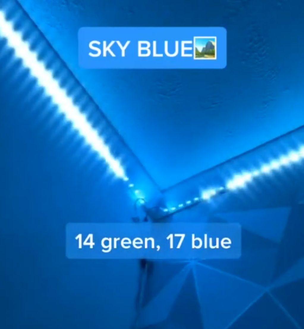 Sky Blue In 2020 Led Room Lighting Led Light Strips Diy Led Lighting Bedroom