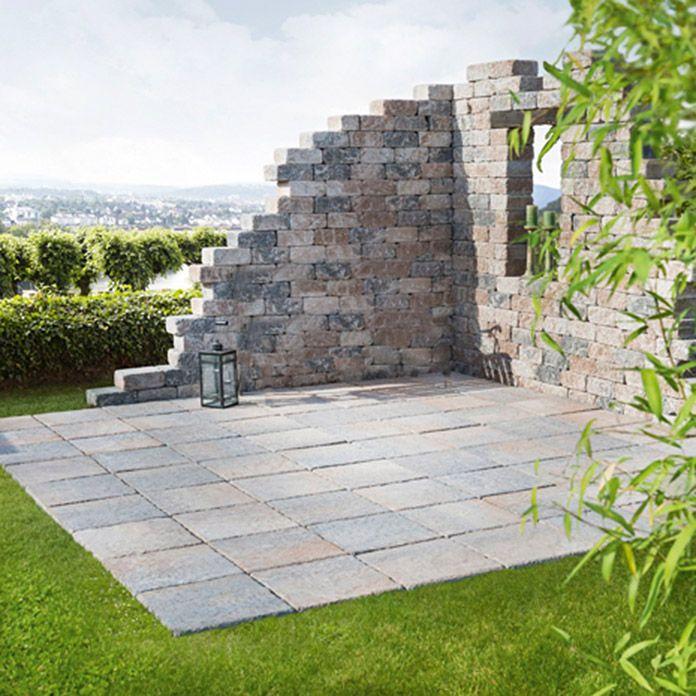 Ehl Antikmur Ruine Klein Mit Fenster Und Mit Bank Muschelkalk Gartenmauern Steinmauer Garten Sitzecken Garten
