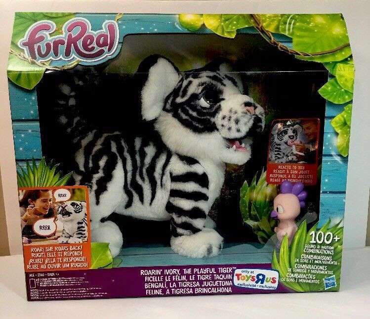 Furreal Roarin Tiger Ivory Tiger Interactive Pet White Toys R Us Exclusive Fur Real Friends Pet News Roaring Cats