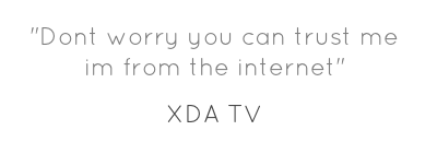 xda tv quotes