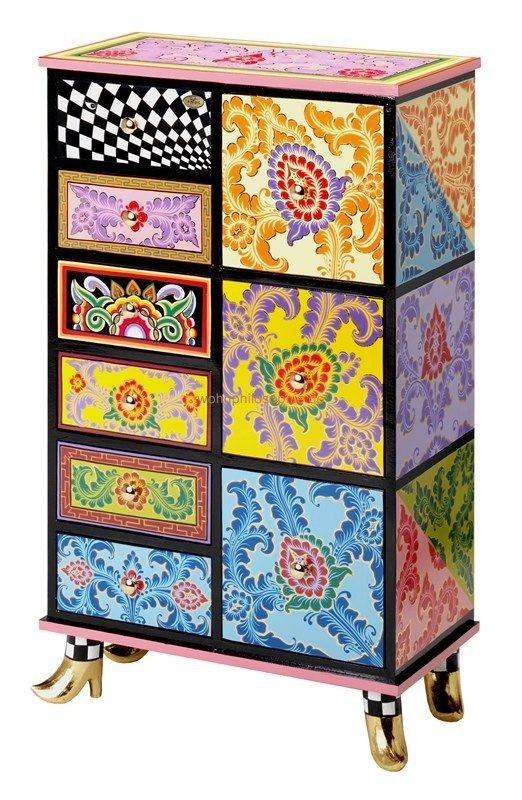 Tomscompany toms company schrank drag cabinet - too cool! | colorful interiors