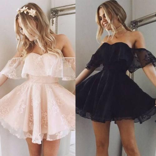 Lace Evening Gown Party Mini Dress