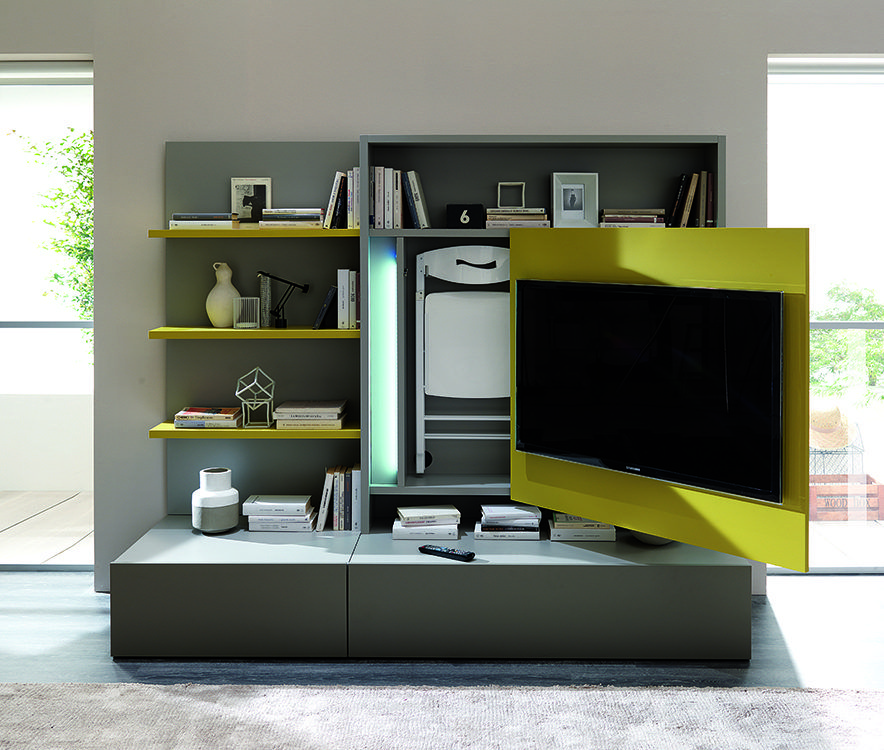 the smart living media system is a new concept on space saving