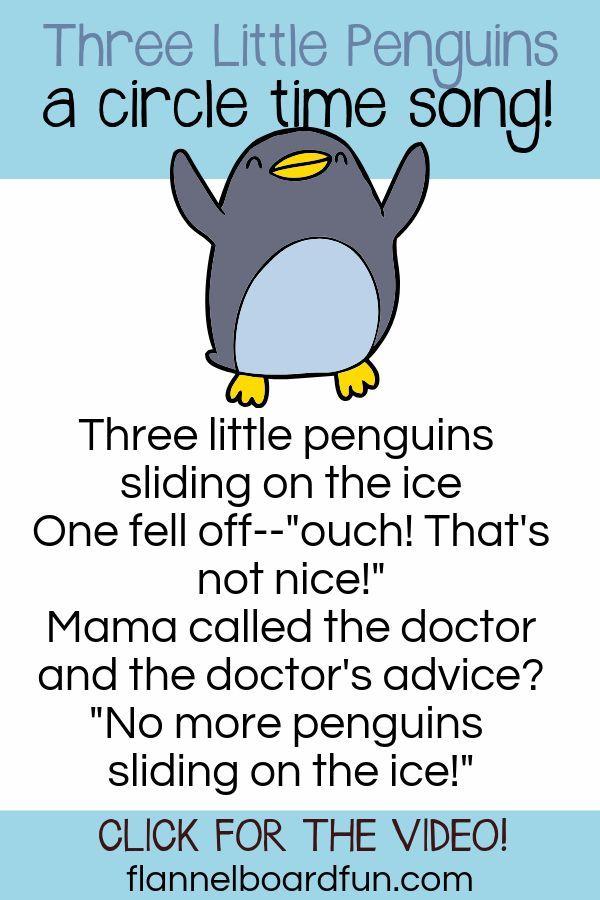 Three Little Penguins Preschool Felt Board Circle Time Song