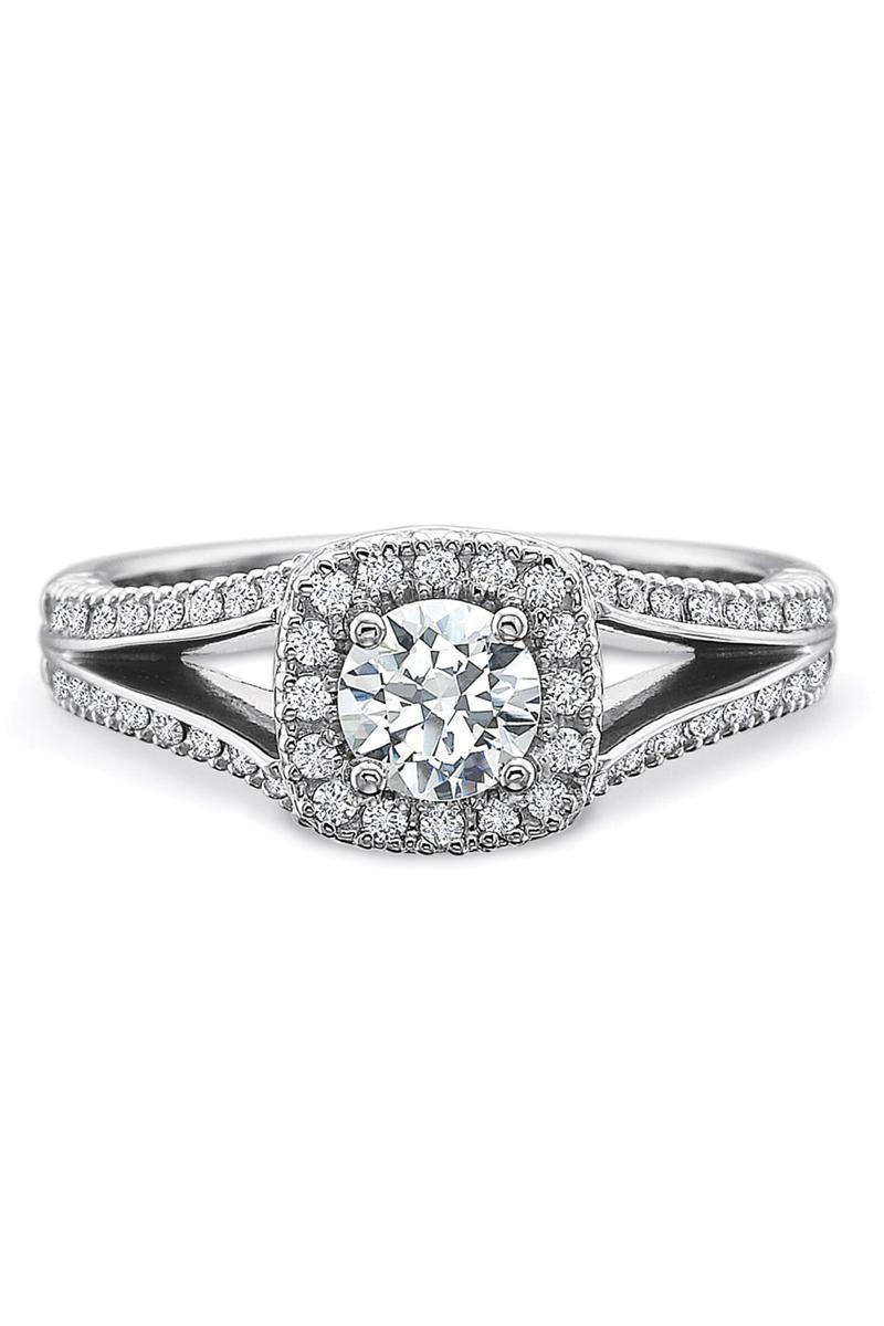 Precision Set Split Shank .63ct I/VS2 Diamond Ring | Oster Jewelers #MyBridalStyle #MyDiamondStyle