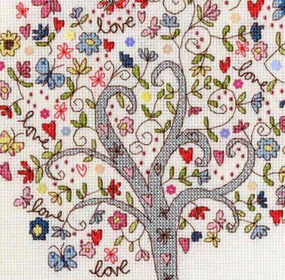 Love Tree Bothy Threads Cross Stitch Kit