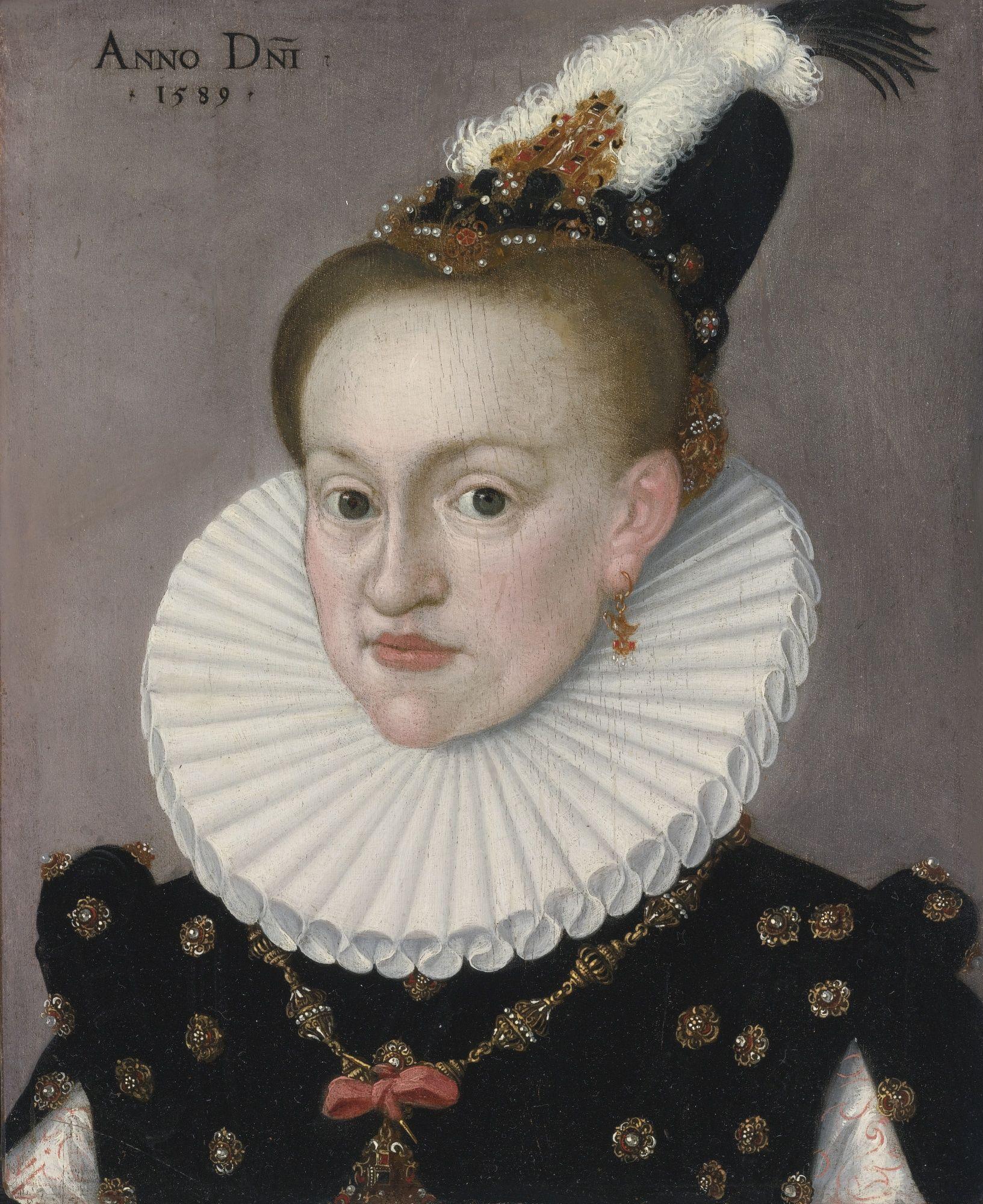 Retrato de una Dama. Escuela Alemana, 1589.