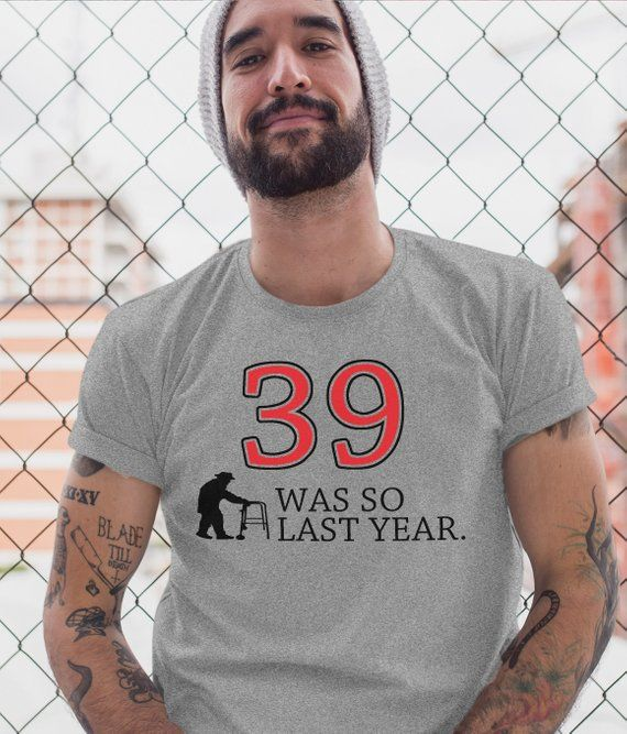 195d7ab75 40th birthday t-shirt over the hill shirt funny bday gift for a 40 year old  men women tshirt black party shirts large xl 2xl 3xl gifts for