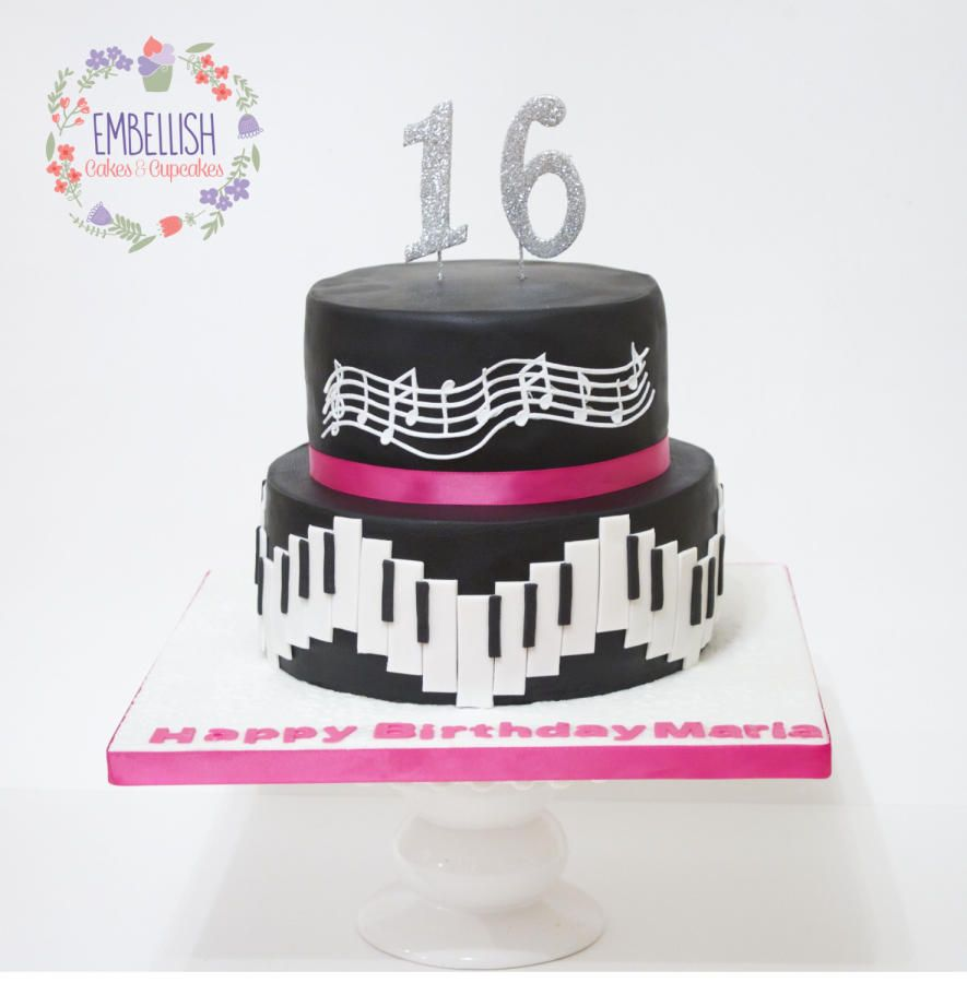 Music Themed Cake Cake by Embellishcandc Birthday Cake ideas
