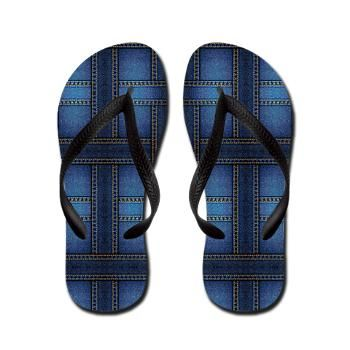 denim Flip Flops #fashion #shoes